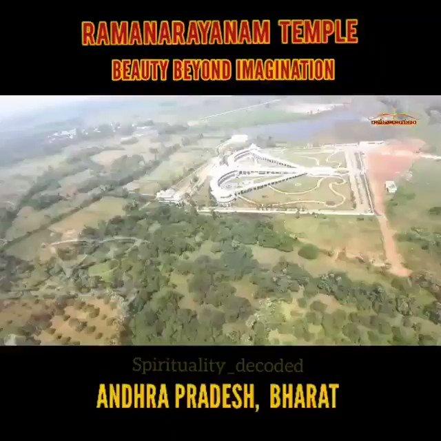 🙏Om Bhagvate Vasudevaye Namah🙏 #Ramnarayanam Temple #Vizianagaram #AP The Temple complex is a major tourist attraction, spreadover 15 acres area, based onRamayana theme, DESIGNED IN THE SHAPE OF BOW & ARROW, has amazingly beautiful spiritual theme park for the devotees.