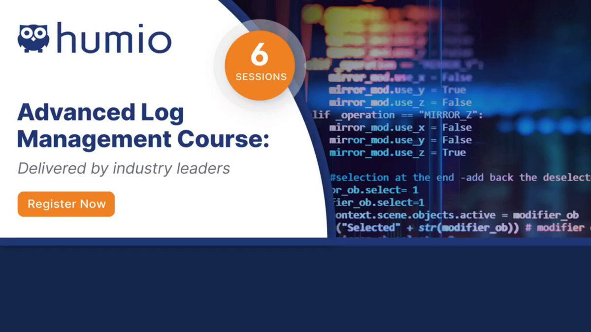 Find out how #LogManagement can solve future #observability problems by joining our six-part log management course.   #EdTech #eLearning