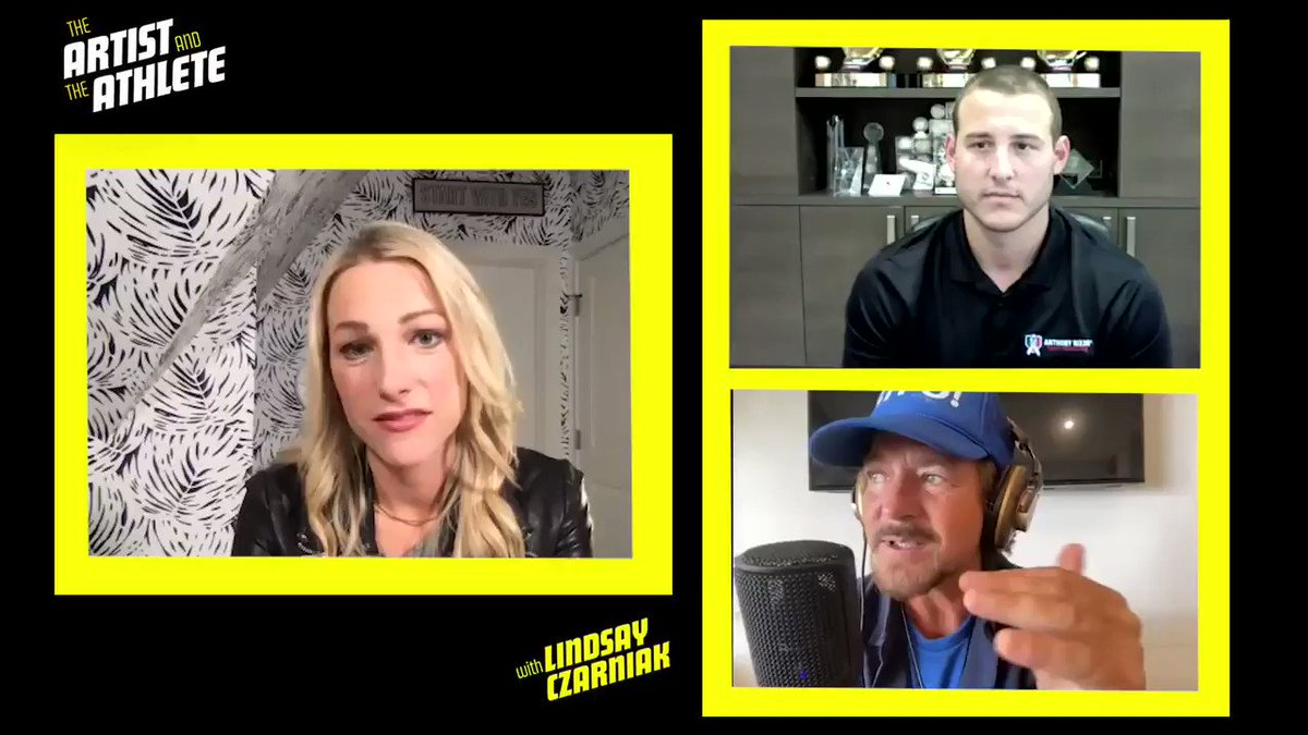 Eddie Vedder of @PearlJam and @ARizzo44 sat down with @lindsayczarniak to talk about how performing has changed since the pandemic began. Listen to this week's episode of The Artist and The Athlete wherever you get your podcasts: