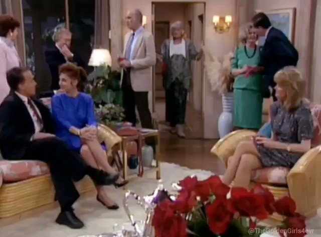 "Forgot to post Golden Girls yesterday.  Here you go, from episode 4x19 ""Till Death Do We Volley""   (March 18, 1989)  #thegoldengirls #goldengirls #bettywhite #beaarthur #ruemcclanahan #estellegetty"