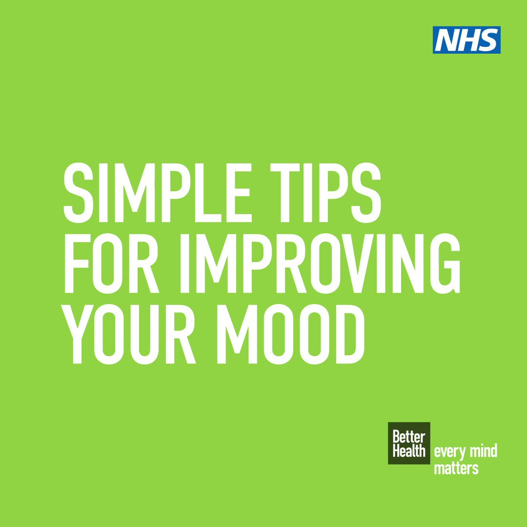 Feeling low is a part of all of our lives at some stage, but there are things you can do to improve your mood 💡Learn how to manage unhelpful thoughts 🤸Stay active 💬Talk to someone For #BetterHealth visit the #EveryMindMatters site▶️ nhs.uk/oneyou/every-m…