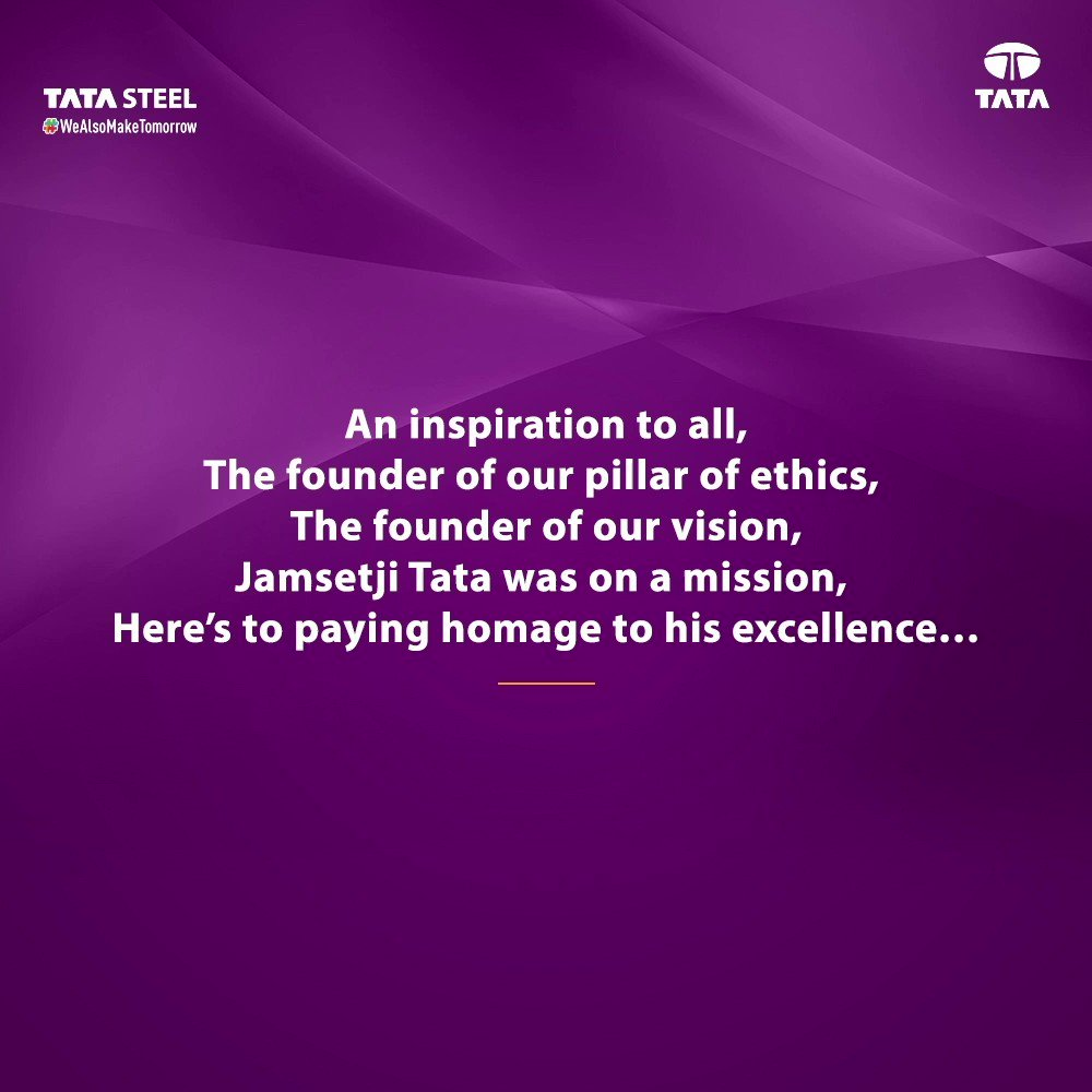 Our founder #JNTata led our nation to excellence with a vision that transcended the realm of possibilities. His values are what motivates us to build an #AgileTodayForASustainableTomorrow! Have a look at how he continues to inspire us. #WeAlsoMakeTomorrow #LegendLivesOn