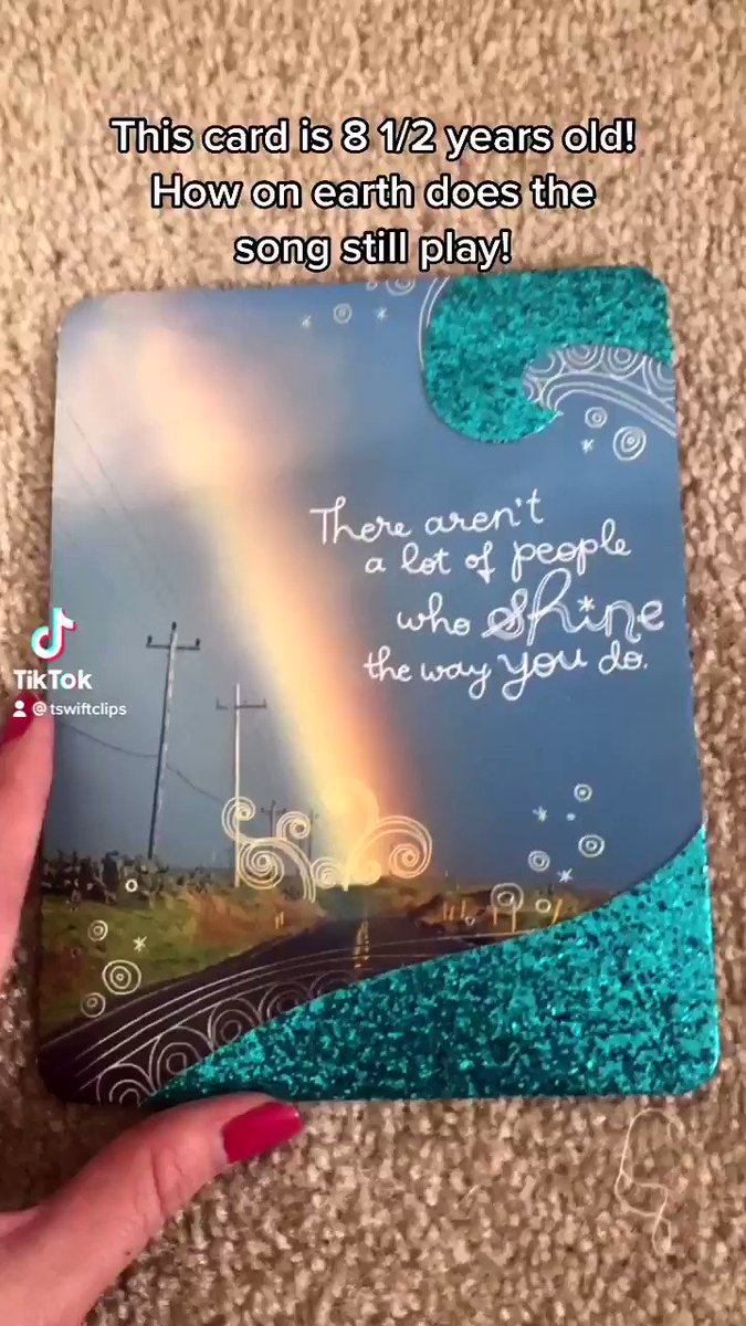 Can we talk about how this card is from my 16th Birthday (8 1/2 years ago) and it still plays the whole sound!! @taylornation13 @taylorswift13 #TaylorsVersion #TaylorSwift #LoveStoryTaylorsVersion #wewerebothyoung