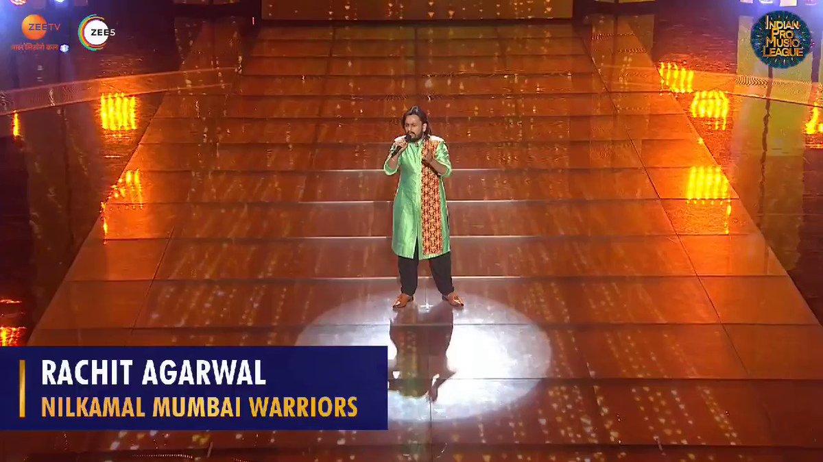 #NilkamalMumbaiWarriors ke #RachitAgarwal aur unki buland awaaz ne kiya sabko speechless... yeh rahi unke shandaar performance ki jhalak!😍  Dekhiye #IndianProMusicLeague, har shanivar aur ravivar raat 8 baje, sirf @ZeeTV aur @ZEE5India pe.
