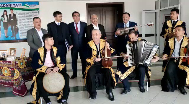 This is #BollywoodInBukhara ! Sharing a video clip of the teacher-student combined band of the Arts and Culture Dept of Bukhara State University, Bukhara , Uzbekistan ! They welcomed us with this when we visited there today ! Look at the sheer bliss on their faces!