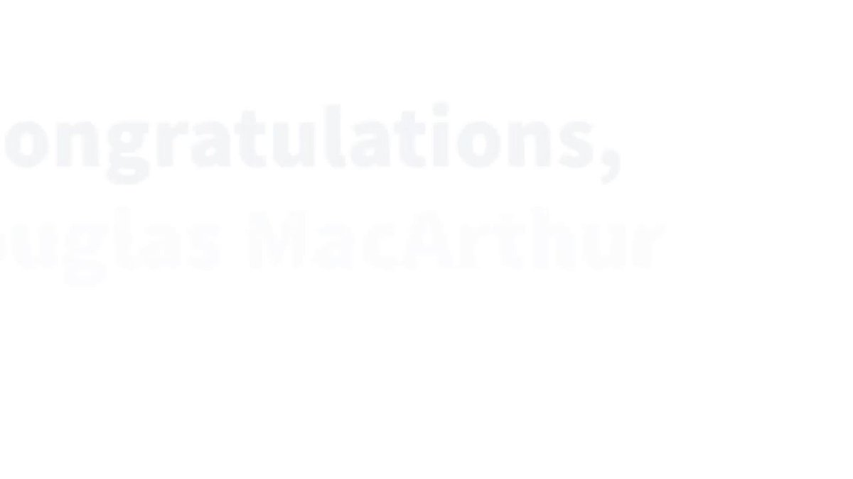Image for the Tweet beginning: Congratulations to @Douglasmac_Elem, winner of