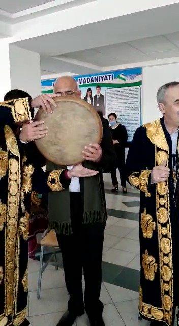 Confluence of Cultures happens when one also joins...#PhirBhiDilHainHindustani again ! At Bukhara State University, Bukhara, Uzbekistan!