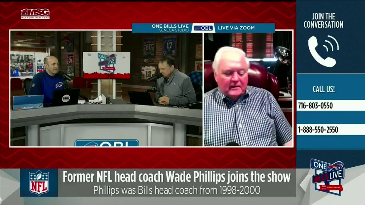 We were joined by former #Bills head coach and longtime defensive coordinator Wade Phillips.  He gave his thoughts on why @SteveTasker89 should be in the @ProFootballHOF🗣️  To watch and listen to @sonofbum's entire segment: