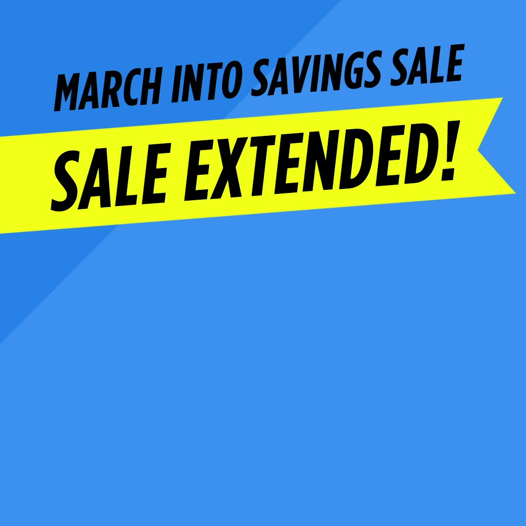Keep marching because this  sale has been EXTENDED 📣  EXTRA 10–20% OFF on almost everything! Check it out 👉 Tap now! https://t.co/3F8i6S6mC9 https://t.co/cpVbfuLZzB