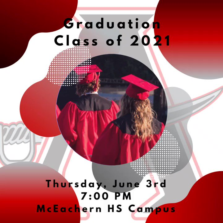 Attention Class of 2021 - Graduation is Thursday, June 3rd, at 7:00 PM! #GoBucs #AnchoredInExcellence #BucNation @cobbschools