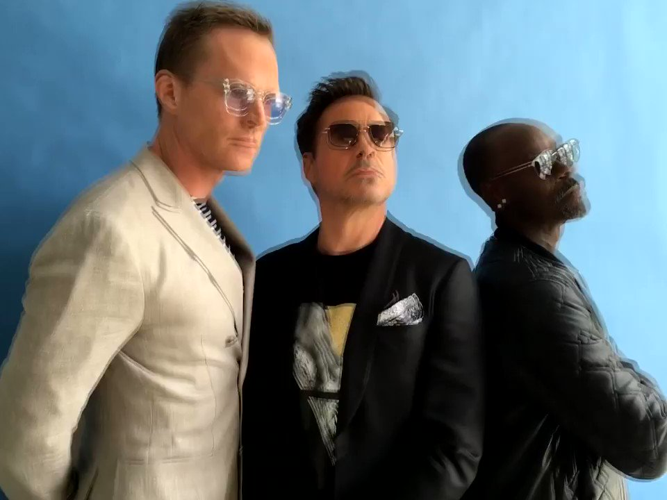 Replying to @RobertDowneyJr: Same shoot, different view👁 #ThrowbackThursday @Paul_Bettany @DonCheadle
