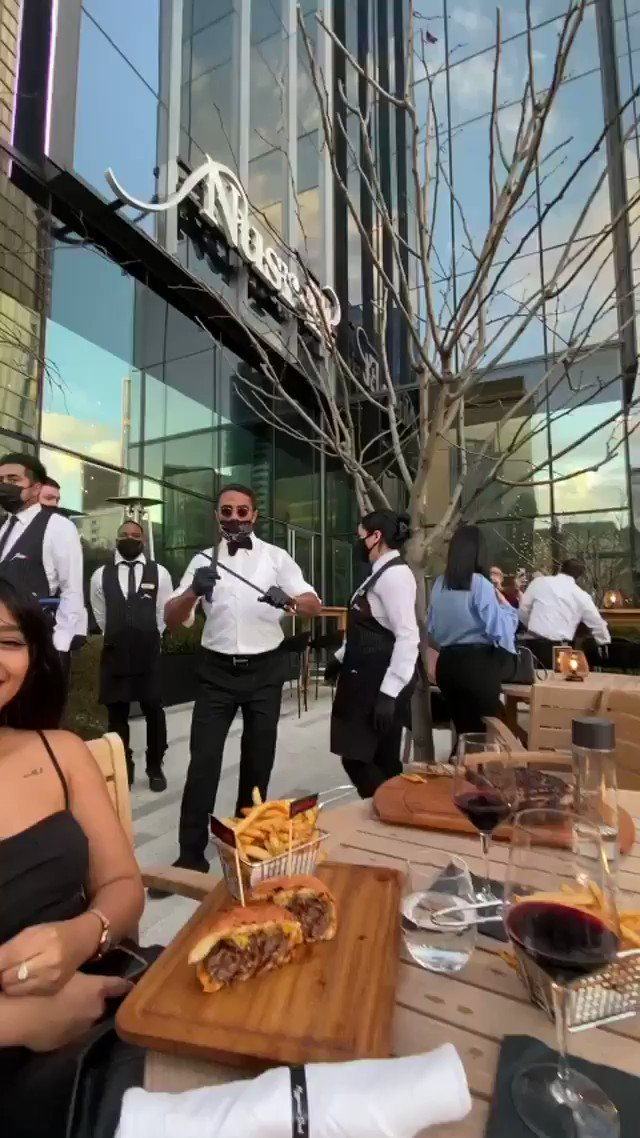Salt bae has officially opened his new steak house in Downtown Dallas