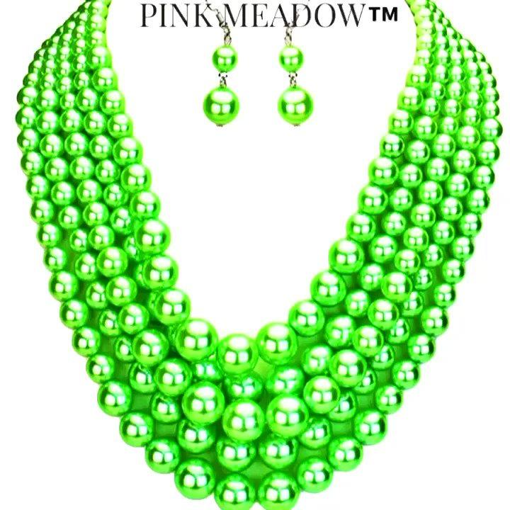 Green Is...𝓟𝓲𝓷𝓴𝓽𝓪𝓼𝓽𝓲𝓬®🌺  🌷Pearl Necklace Set 🌷On Sale💫  🛍𝐒𝐡𝐨𝐩➡️   #pandgLOVERS 💗💚 #pinkandgreen  #necklaces #pearljewelry #hgtv #stylish #linksinc #aka1908 #preppylady #accessoires #springfashion  #wedding #gma #LoveStoryTaylorsVersion