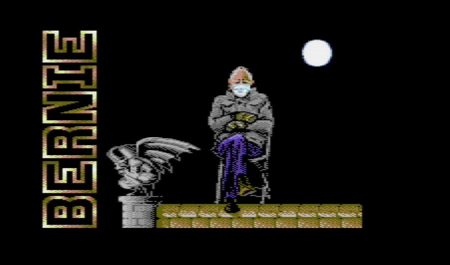 """For a while, it felt like the #Berniememe was everywhere. Guess what?  Now he's on the @InternetArchive.  """"BernieMania"""" Playable via Commodore 64:"""