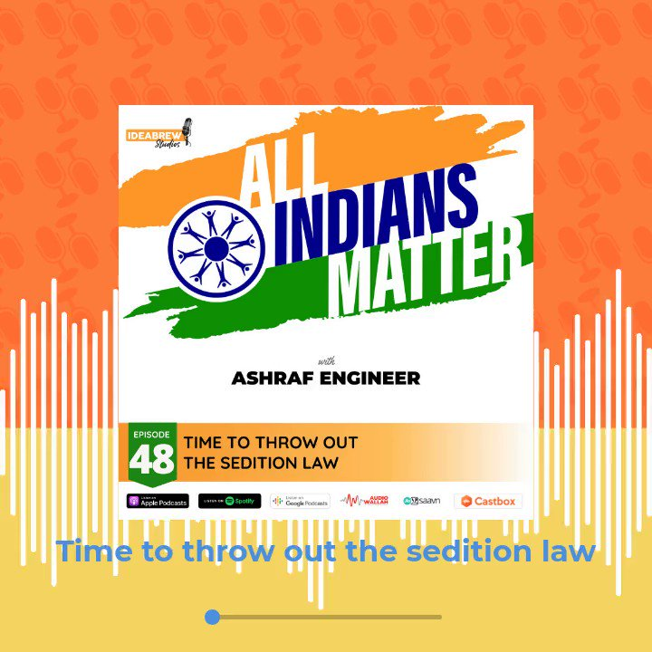 In recent times, #sedition cases have been filed against climate activists, journalists, social activists, comedians, politicians, student protestors & authors. What exactly is sedition and why is it such a danger? Find out on the next episode of the @allindianscount #podcast.