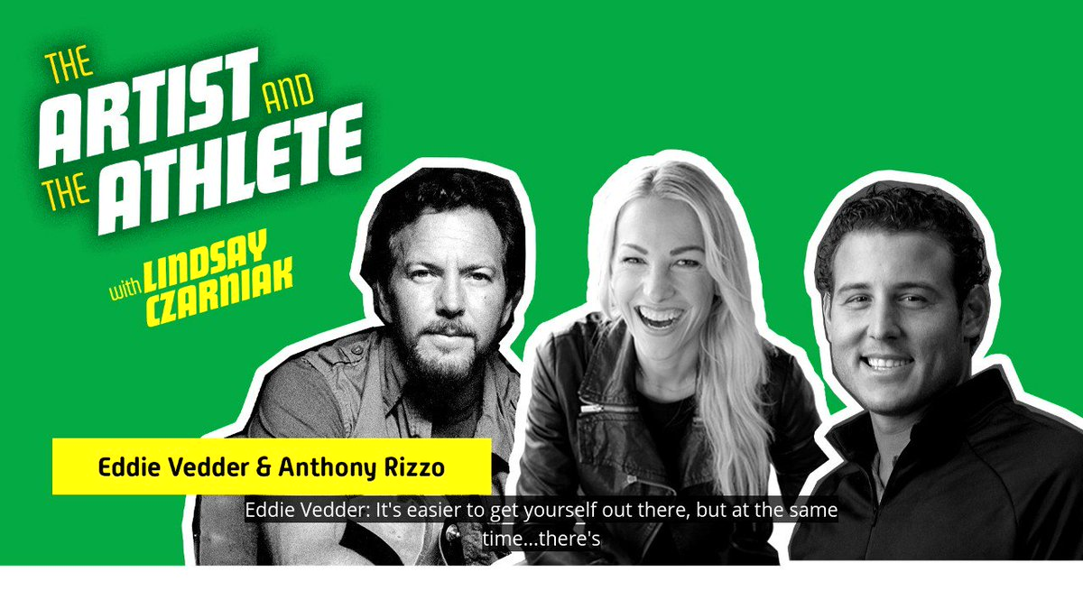 It's easy to get yourself out there, but harder to stand out. Listen to a new episode of The Artist and The Athlete with @lindsayczarniak featuring Eddie Vedder of @PearlJam and @ARizzo44 wherever you get your podcasts: