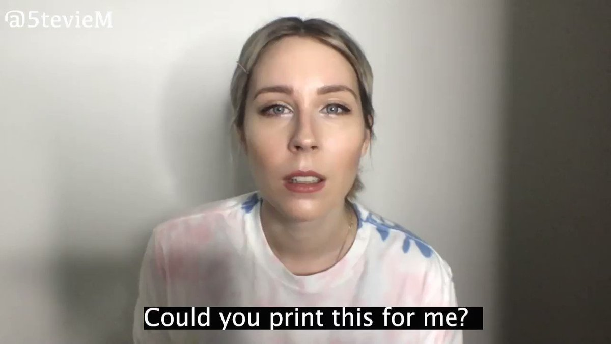 when you're trying to print something