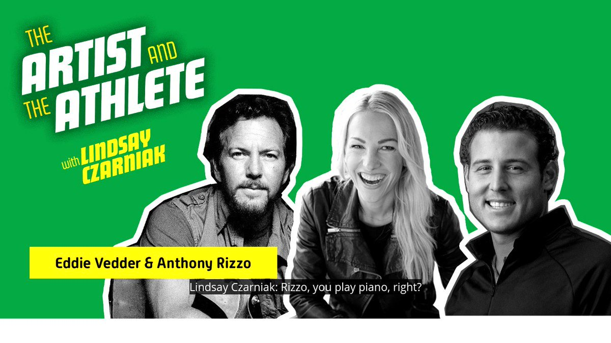 .@ARizzo44 will have plenty of time to become more musical when he's done playing baseball. Listen to this week's episode of The Artist and The Athlete with @lindsayczarniak to hear more from Eddie Vedder of @PearlJam and Anthony Rizzo: