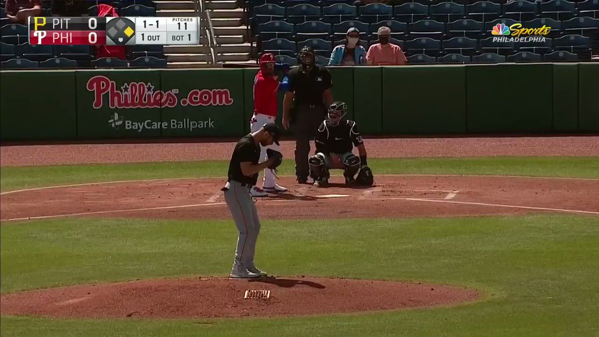 Bryce Harper with a no-doubter oppo taco in his first AB of the spring... SHEESH.
