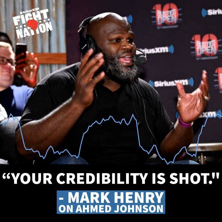 Before you start trying to tear down DLo Brown...why dont you look in the mirror? @TheMarkHenry had a strong message for Ahmed Johnson during his Your Slip is Showing segment today & he did not hold back...😲 @davidlagreca1 @dlobrown75