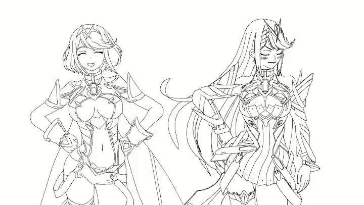 I think this gif I made is a bit more relevant now.  #xenobladechronicles2 #smash #supersmashbrosultimate #xenbladechronicles #anime #animeart #manga #mangaart #animegirl #animegirls #animation #sketch #games #gaming #dancing #cute #nintendo #digitalart #drawing  #mythra #pyra