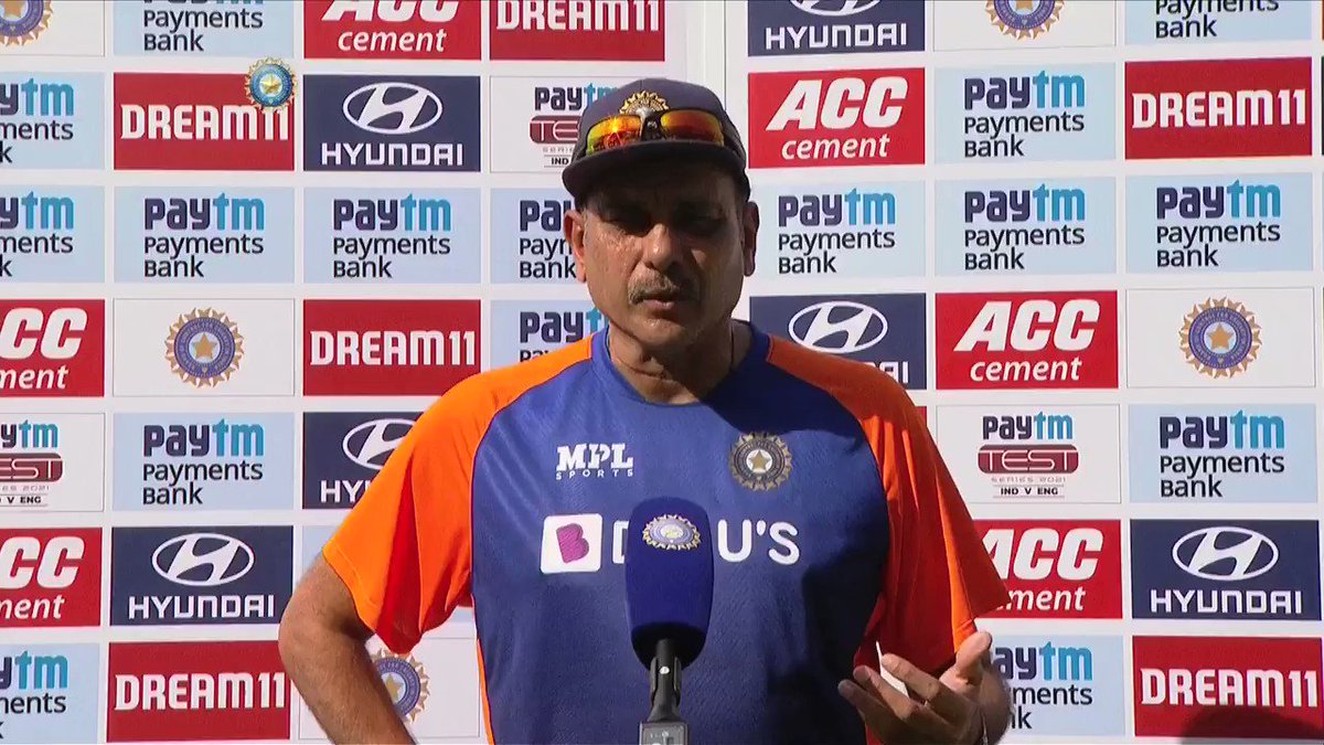 """💬 """"This has been a result of all the hardwork put in by the boys over a period of 6️⃣ years""""  🗣️ Head Coach @RaviShastriOfc heaps praise on his boys after the 3-1 Test series win against 🏴   #TeamIndia #INDvENG @Paytm"""