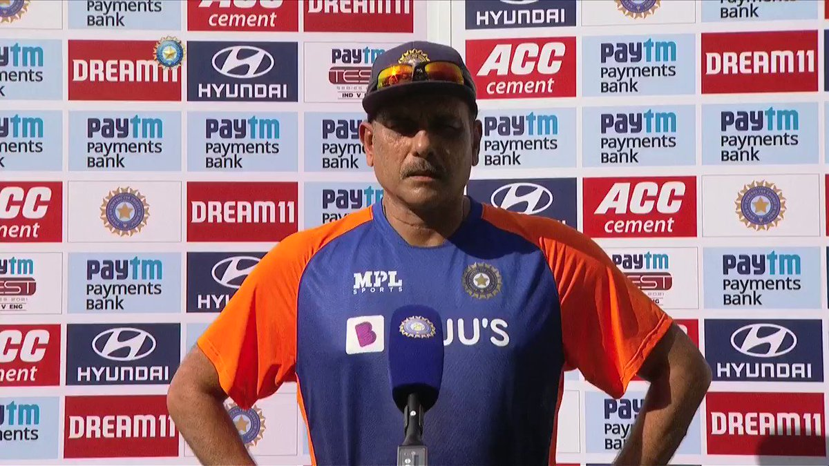 """🗣️🗣️ """"Rishabh's yesterday's innings is probably the best counter-attacking innings I've seen in India by an Indian batsman.""""   #TeamIndia Head Coach @RaviShastriOfc on how @RishabhPant17 has evolved as a player over the past few months.   @Paytm #INDvENG"""