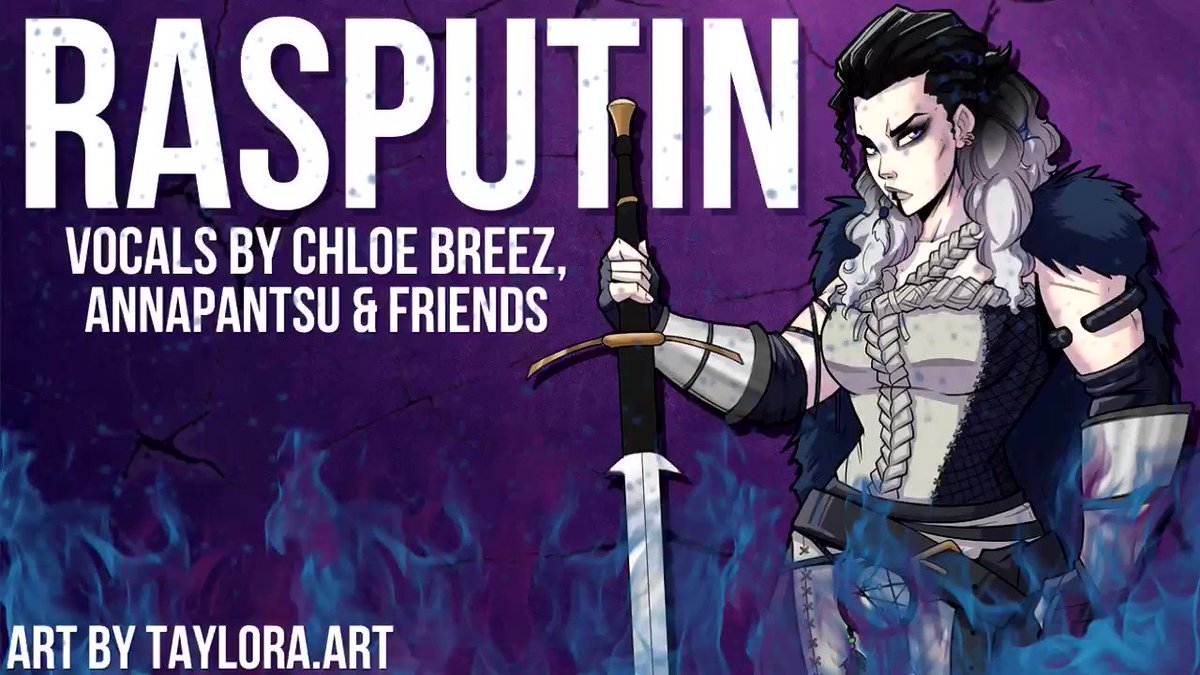 """Hey everyone!! My cover of """"Rasputin"""" Ft. @annapantsu and a TON of my insanely talented friends is out now!! Huge thank you to everyone involved in this project, you all did an amazing job!! Hope you all enjoy and have a great weekend!!"""