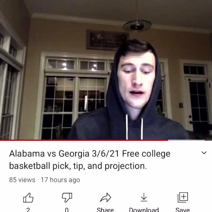 Alabama -8 🔐✅  #freepicks #freebets #collegebasketballpick #tabletennispick #nbapicks #Youtube
