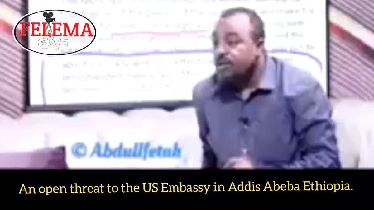 An Amhara extremist openly calling for an attack on USA embassy in Ethiopia because of America's condemnation of the #war_on_Tigray and State Department's call for Amhara militias and Eriterian soldiers to leave #Tigray. This threat has to be taken seriously. @JoeBiden @FBI @CIA