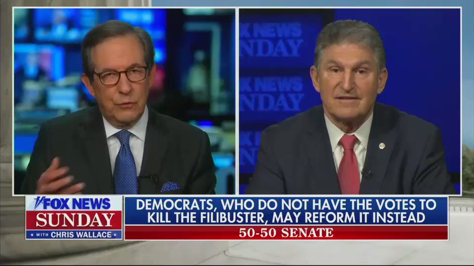 """Key from Manchin. Filibuster reformers have been saying consistently that change will only come if it can be packaged as """"saving"""" the filibuster by """"reforming"""" it. And as you can see here that's exactly where Manchin goes."""