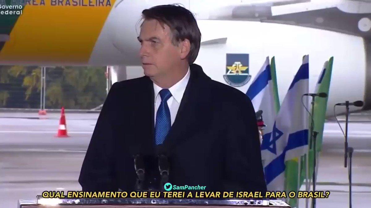 """""""Qual ensinamento que eu terei a levar de Israel para o Brasil? Como poderemos ser iguais a eles?"""" - Presidente Jair Bolsonaro, 31 de março de 2019"""