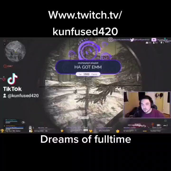 Working to make my dream come true. Thank you all for your support. #twitch #dream #CallofDutyWarzone