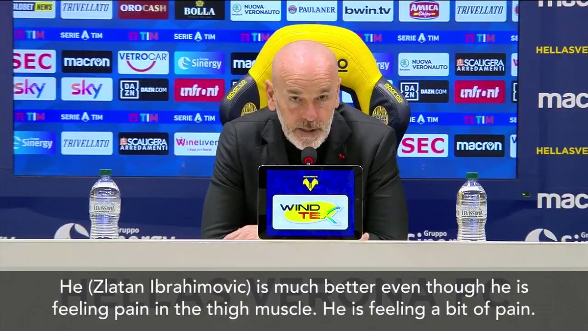 """""""He is much better even though he is feeling pain in the thigh muscle... Hopefully, we can recover some players ahead of Thursday.""""  - #ACMilan boss Stefano #Pioli hopes Zlatan #Ibrahimovic will be fit to face #MUFC in #UEL @MilanClubPhilly @ACMilanClubPNW #SempreMilan"""