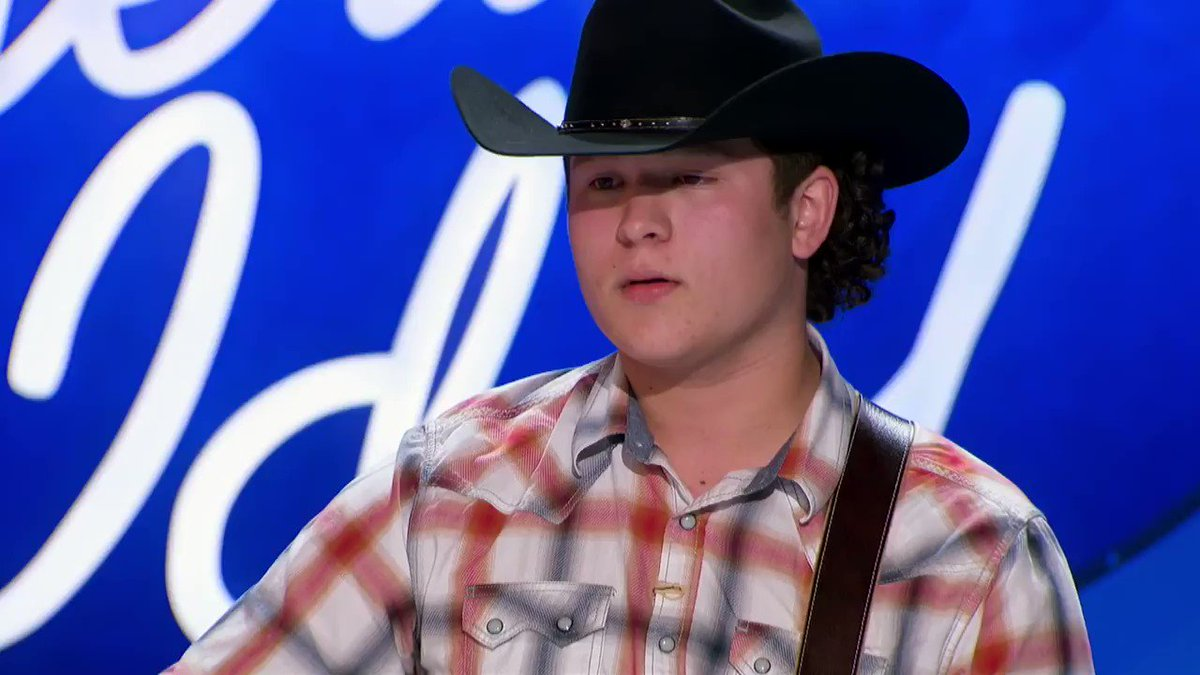 I'm ready to write the second verse of that song whenever you are @calebkennedy. The world ain't ready for you. #AmericanIdol