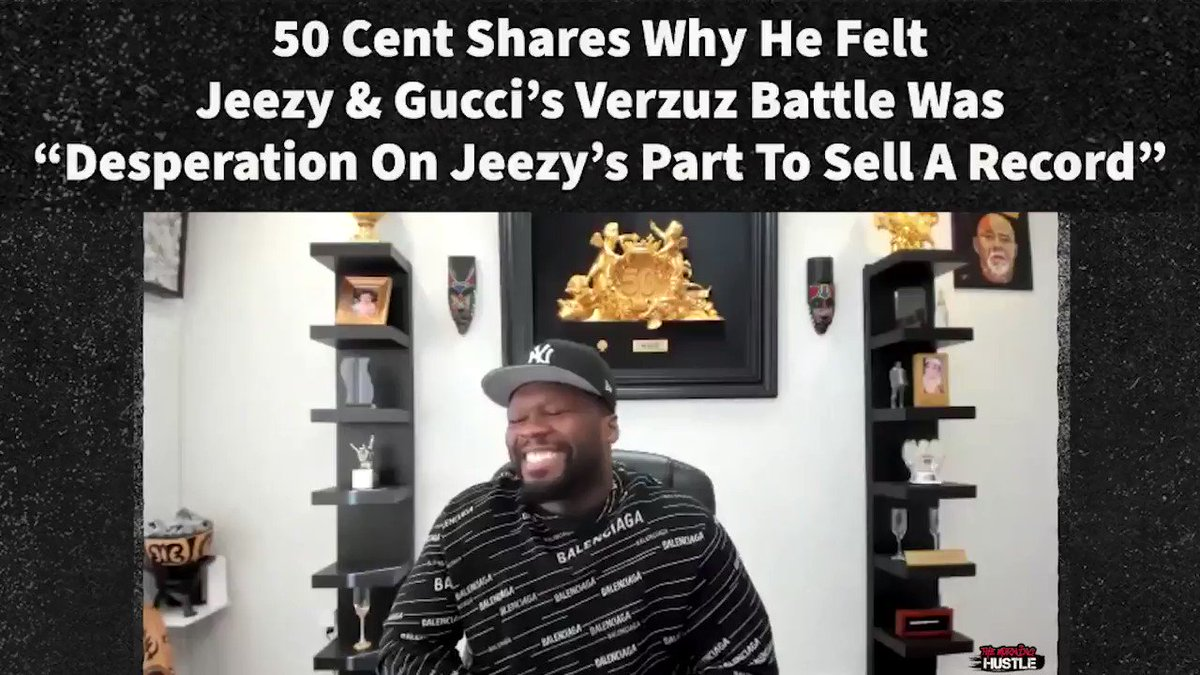 Welp, it looks like we won't see #50Cent in a #Verzuz  anytime soon 🤷🏾♂️🤷🏾♀️  Let us know your thoughts on what he had to say about the Jeezy / Gucci battle 👀  Full interview with @50cent, @headkrack, @StarringLoreL, & @billysorrells here: