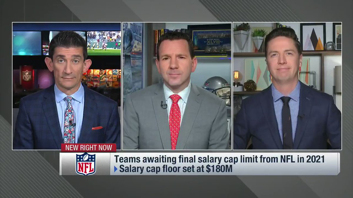 From NFL Now: The cap isnt set... so everyone is just waiting 😴