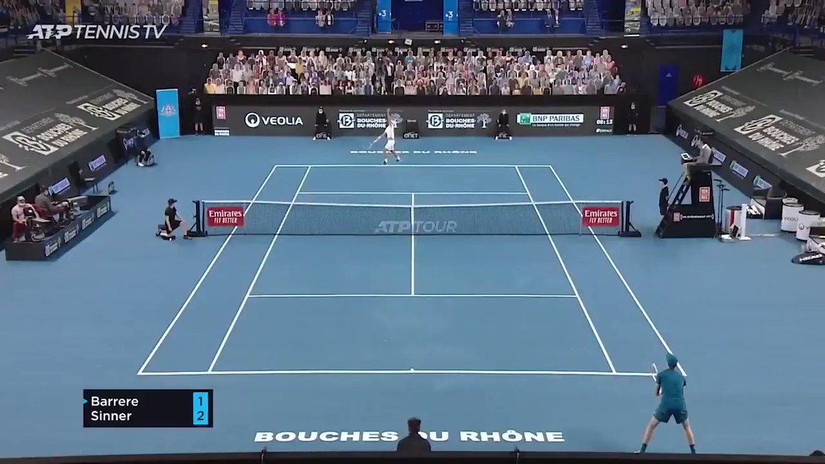 Reflexes: 💯💯💯  @janniksin is back with a bang this week at the @Open13 💪 https://t.co/QE91f4heJt