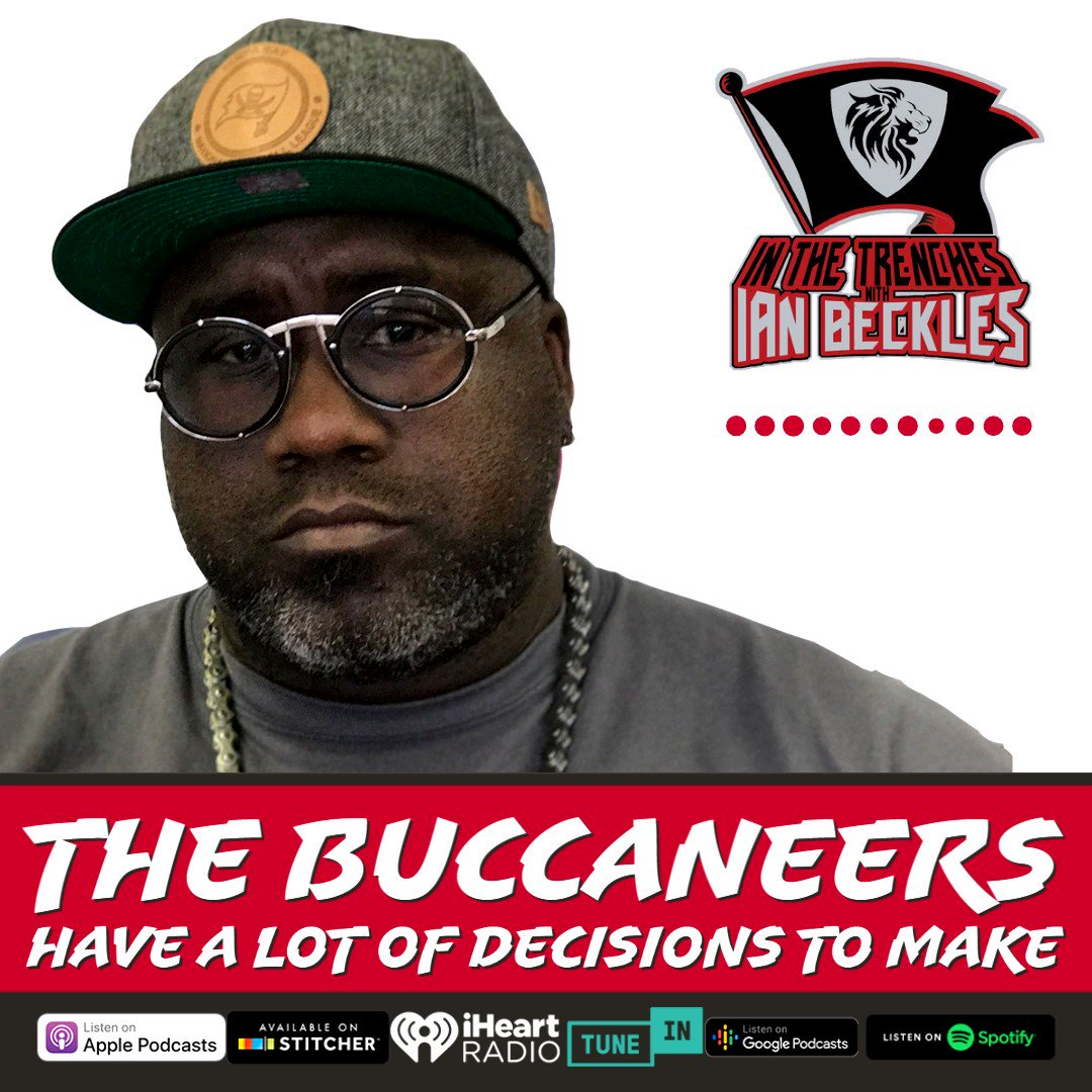 With #NFL Free Agency beginning on March 17th, @IanBeckles talks about some of the decisions the Tampa Bay Buccaneers have to make in today's episode of the In The Trenches #Podcast. Listen now! #GoBucs #NFLFreeAgency  🏈  🏈