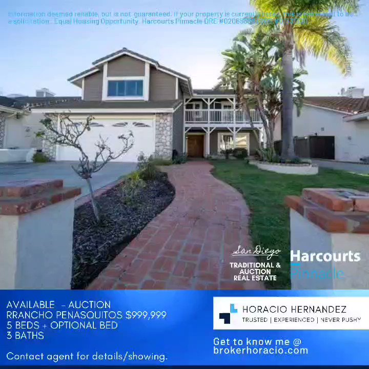 #RealEstate #Investing #Realtor #Broker #HomeForSale #Property #Seller #clairemont #JustListed #HouseHunt #NewListing #moving #condo #townhouse #SingleFamilyHome #investmentproperty #SanDiego #socalhomesforsale #harcourts #sold #sd #socal #changinglives