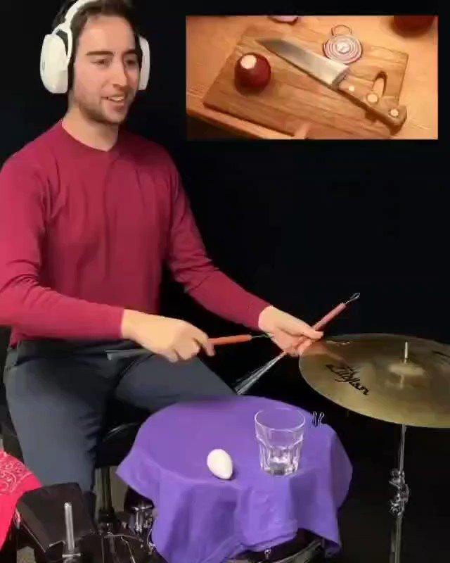 👈Satisfying👉👈 follow us for more The Rhythms of Ratatouille 👨🍳 . by @josh_harmon_ . #ratatouille #pixar #comedy #musician #funny #drums #art - - #Repost @justvirals @dmilentetv #DMiLenteTV  - - #entretenimiento #fans #entertainment #musica #arte #artista #bateria #divertido