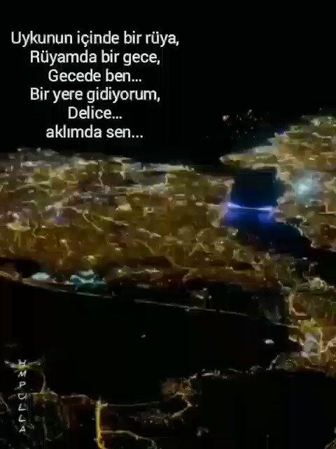 Uykunun içinde bir rüya,  Rüyamda bir gece,  Gecede ben. Bir yere gidiyorum,  Delice. Aklımda sen..  #istanbulkanatlarımınaltında #istanbul #bosphorus #theblacksea #night #aeralphotography #hasret #şiir #siirheryerde #siirgonullerde