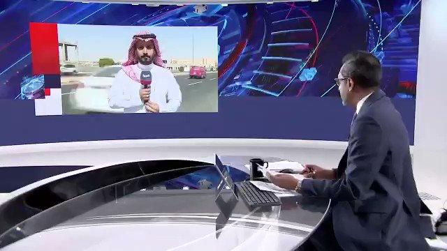 """#العربية في """"خميس مشيط"""" سلطان السلمي: الدفاعات #السعودية تعترض وتدمر مسيرة مفخخة أطلقها الحوثيون تجاه المدينة ولا خسائر."""
