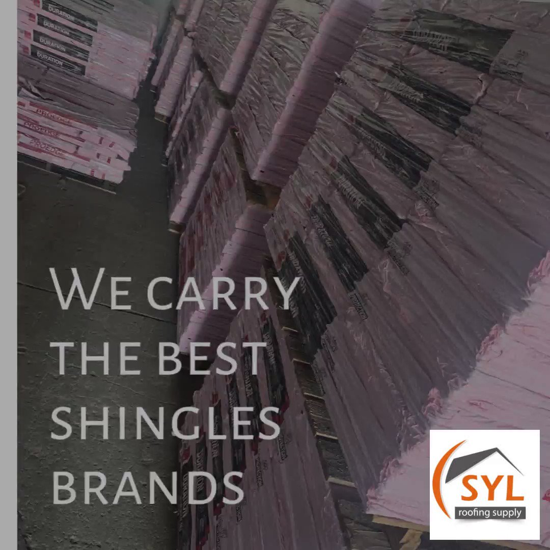 We carry the best shingles brands! #sylroofingsupply #architecture #construction #roof #commercialroofing #roofingcompany #metalroofing #roofinglife #roofingtile #builder #roofingcontractor #roofingexperts #roofrepair #design #roofer #building #newroof ##roofingfail #home