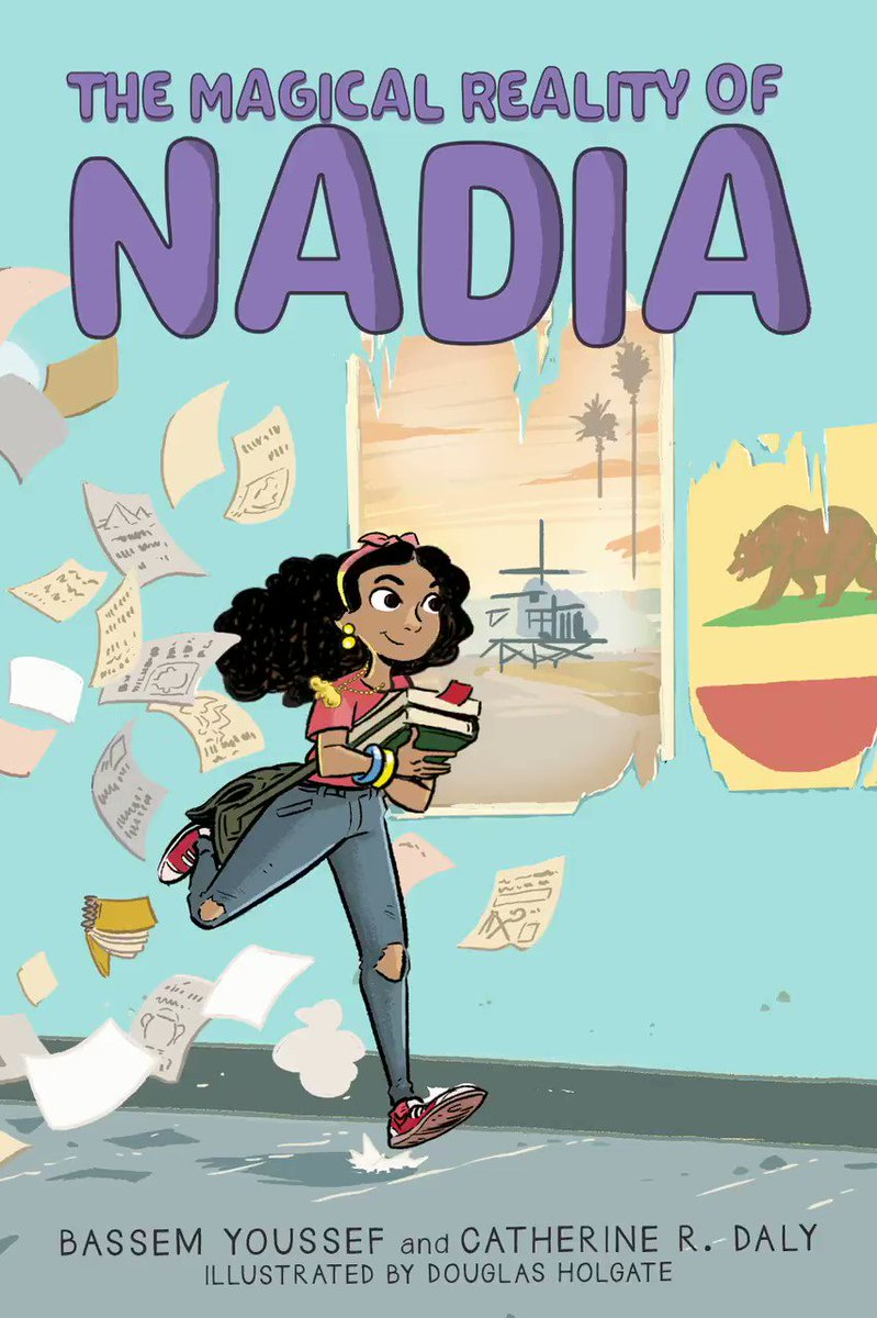 When the ancient Egyptian amulet Nadia wears starts glowing, she discovers that it's holding a hilarious – and helpful – secret. Can she use it to help her navigate the ups and downs of sixth grade? Learn more about #TheMagicalRealityOfNadia: https://t.co/VnhFE91NBI @Byoussef https://t.co/pwfvruGi8G