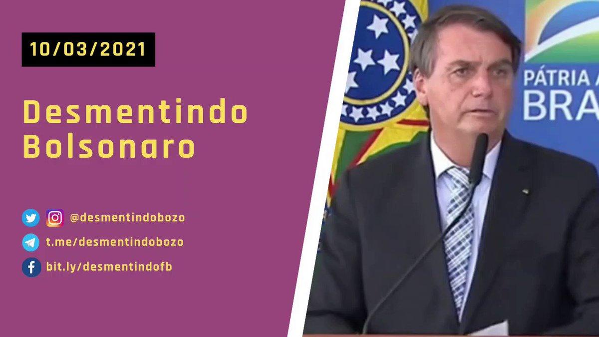 """O presidente Jair Bolsonaro tentou """"mudar"""" o seu discurso hoje em relação às vacinas, mas JAMAIS nos esqueceremos do seu descaso. - 👉 Baixe o vídeo: https://t.co/0pxj87ouZA - #DesmentindoBolsonaro https://t.co/4EvirpCZ9Y"""