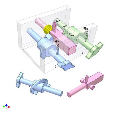 Mechanical AND Logic Gate