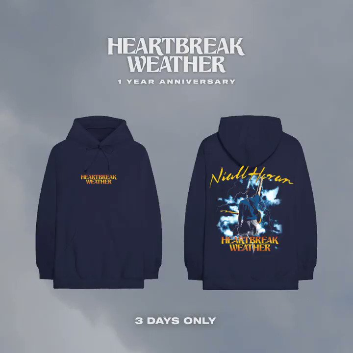 Hard to believe Heartbreak Weather is a year old today ! There's some new merch in the store to celebrate . It's only available for 3 days so grab it while ya can x https://t.co/FHzPXoyB2F https://t.co/2fYayRLRSc