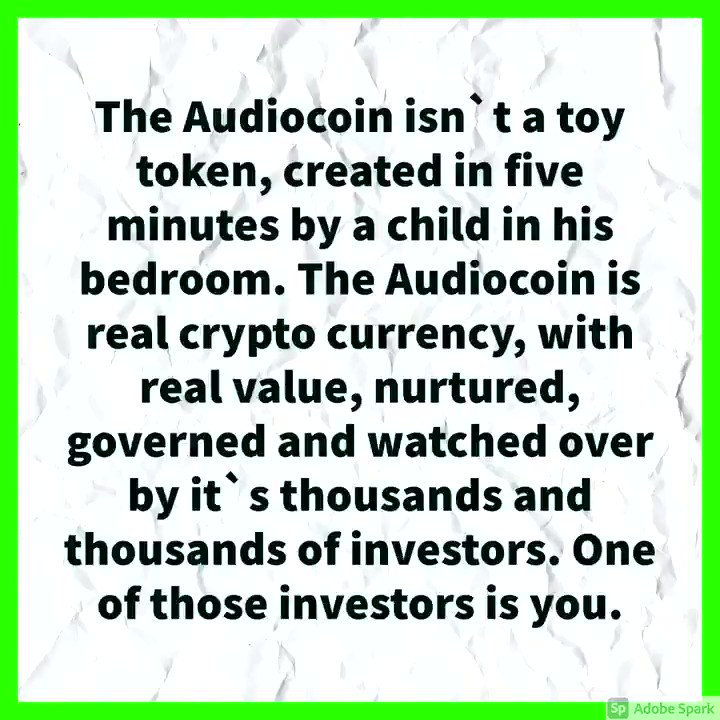 Image for the Tweet beginning: Get involved :) #audiocoin #cryptocurrency #cryptoartist