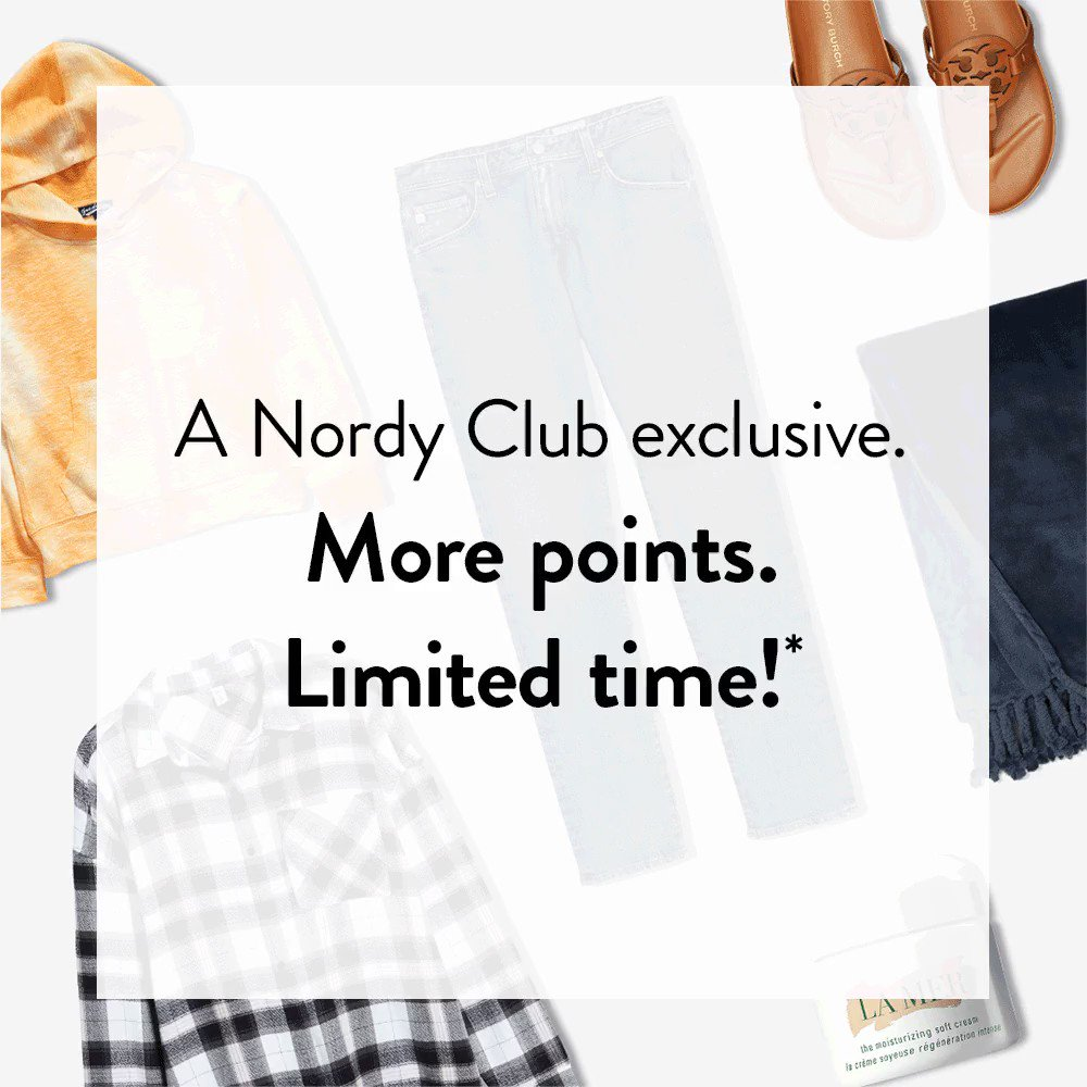 A Nordy Club exclusive. More points—limited time! Restrictions Apply. Learn more: https://t.co/0S9G2oS0UW https://t.co/rGvJmUeDhT